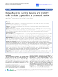 "Báo cáo khoa hoc:""   Biofeedback for training balance and mobility tasks in older populations: a systematic review"""
