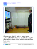 "Báo cáo khoa hoc:""   Effectiveness of a Wii balance board-based system (eBaViR) for balance rehabilitation: a pilot randomized clinical trial in patients with acquired brain injury"""