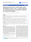 "Báo cáo khoa hoc:""   Exploring the bases for a mixed reality stroke rehabilitation system, Part I: A unified approach for representing action, quantitative evaluation, and interactive feedback"""