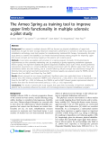 "Báo cáo khoa hoc:""   The Armeo Spring as training tool to improve upper limb functionality in multiple sclerosis: a pilot study"""
