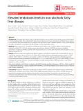 """Báo cáo y học: """" Elevated endotoxin levels in non-alcoholic fatty liver disease"""""""