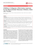 """Báo cáo y học: """"Inhibition of allogeneic inflammatory responses by the Ribonucleotide Reductase Inhibitors, Didox and Trimidox"""""""