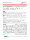 "Báo cáo y học: "" Novel anti-inflammatory role of SLPI in adipose tissue and its regulation by high fat diet"""
