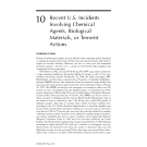 EMERGENCY RESPONSE TO CHEMICAL AND BIOLOGICAL AGENTS - CHAPTER 10