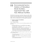 Environmental Justice AnalysisTheories, Methods, and Practice - Chapter 11