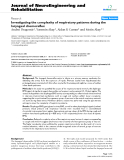 """Báo cáo khoa hoc:""""   Investigating the complexity of respiratory patterns during the laryngeal chemoreflex"""""""