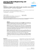 "Báo cáo khoa hoc:""  Validation of spinal motion with the spine reposition sense device"""