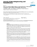 """Báo cáo khoa hoc:""""The use of body weight support on ground level: an alternative strategy for gait training of individuals with stroke"""""""