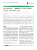 """Báo cáo y học: """" HIV-1 sub-type C chimaeric VLPs boost cellular immune responses in mice"""""""