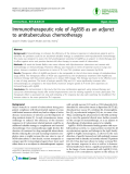 "Báo cáo y học: "" Immunotherapeutic role of Ag85B as an adjunct to antituberculous chemotherapy"""