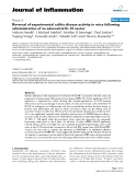"""Báo cáo y học: """"Early Reversal of experimental colitis disease activity in mice following administration of an adenoviral IL-10 vector"""""""