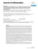 "Báo cáo y học: ""P38 MAP kinase inhibitors as potential therapeutics for the treatment of joint degeneration and pain associated with osteoarthritis"""