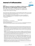 """Báo cáo y học: """"JNK pathway is involved in the inhibition of inflammatory target gene expression and NF-kappaB activation by melittin"""""""