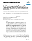 "Báo cáo y học: ""Bioavailable constituents/metabolites of pomegranate (Punica granatum L) preferentially inhibit COX2 activity ex vivo and IL-1beta-induced PGE2 production in human chondrocytes in vitro"""