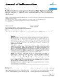"Báo cáo y học: "" Is inflammation a consequence of extracellular hyperosmolarity"""