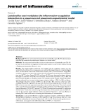 "Báo cáo y học: "" Lactobacillus casei modulates the inflammation-coagulation interaction in a pneumococcal pneumonia experimental model."""