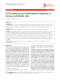 "Báo cáo y học: ""CD73 represses pro-inflammatory responses in human endothelial cells"""