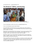 The World at 7 Billion, and Growing Reuters