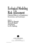 Ecological Modeling in Risk Assessment - Chapter 1