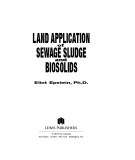 Land Application of Sewage Sludge and Biosolids - Chapter 1