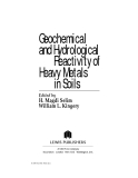 Geochemical and Hydrological Reactivity of Heavy Metals in Soils - Chapter 1