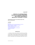 LANDSCAPE ECOLOGY in AGROECOSYSTEMS MANAGEMENT - CHAPTER 8