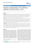 "báo cáo khoa học: ""Proteomic characterization of iron deficiency responses in Cucumis sativus L. roots"""