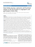 """báo cáo khoa học: """"Gene family structure, expression and functional analysis of HD-Zip III genes in angiosperm and gymnosperm forest trees"""""""