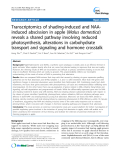 "báo cáo khoa học: ""Transcriptomics of shading-induced and NAAinduced abscission in apple (Malus domestica) reveals a shared pathway involving reduced photosynthesis, alterations in carbohydrate transport and signaling and hormone crosstalk"""