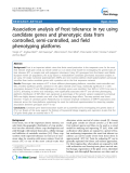 "báo cáo khoa học: ""Association analysis of frost tolerance in rye using candidate genes and phenotypic data from controlled, semi-controlled, and field phenotyping platforms"""
