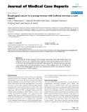 """Báo cáo khoa hoc:"""" Esophageal cancer in a young woman with bulimia nervosa: a case report"""""""