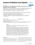 """Báo cáo khoa hoc:""""   A simple way to distinguish bed clothing contamination in a whole body bone scan: a case report"""""""