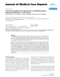 """Báo cáo y học: """" Concurrent pulmonary zygomycosis and Mycobacterium tuberculosis infection: a case report."""""""