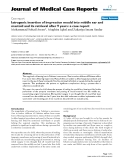 """Báo cáo y học: """"Iatrogenic insertion of impression mould into middle ear and mastoid and its retrieval after 9 years: a case report"""""""