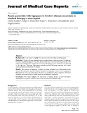 "Báo cáo y học: ""Acute panuveitis with hypopyon in Crohn's disease secondary to medical therapy: a case report."""