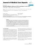 "Báo cáo y học: ""Primary malignant melanoma of the oesophagus: a case report"""