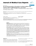 """Báo cáo y học: """"An unusual presentation of brucellosis, involving multiple organ systems, with low agglutinating titers: a case repor"""""""