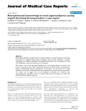 """Báo cáo khoa hoc:"""" Retroperitoneal haemorrhage in renal angiomyolipoma causing hepatic functional decompensation: a case report"""""""