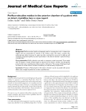 """Báo cáo khoa hoc:""""  Perfluorodecaline residue in the anterior chamber of a patient with an intact crystalline lens: a case report"""""""