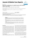 "Báo cáo khoa hoc:"" Pulmonary manifestations in a pediatric patient with ulcerative colitis: a case report"""