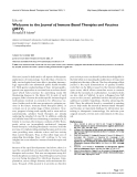 "Báo cáo y học: ""Welcome to the Journal of Immune Based Therapies and Vaccines (JIBTV)"""