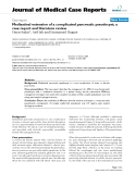 """Báo cáo y học: """"Mediastinal extension of a complicated pancreatic pseudocyst; a case report and literature review"""""""