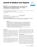 "Báo cáo y học: ""Recurrence of suicidal ideation due to treatment with antidepressants in anxiety disorder: a case report"""