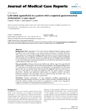 "Báo cáo y học: "" Left-sided appendicitis in a patient with congenital gastrointestinal malrotation: a case report"""