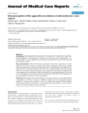 "Báo cáo y học: ""Intussusception of the appendix secondary to endometriosis: a case report"""