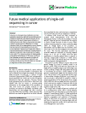 """báo cáo khoa học: """" Future medical applications of single-cell sequencing in cancer"""""""