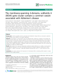"""báo cáo khoa học: """" The membrane-spanning 4-domains, subfamily A (MS4A) gene cluster contains a common variant associated with Alzheimer's disease"""""""