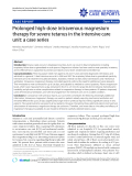 "Báo cáo y học: ""Prolonged high-dose intravenous magnesium therapy for severe tetanus in the intensive care unit: a case series"""
