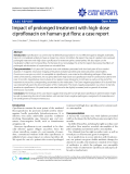"""Báo cáo y học: """" Impact of prolonged treatment with high-dose ciprofloxacin on human gut flora: a case report"""""""
