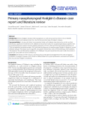 """Báo cáo y học: """" Primary nasopharyngeal Hodgkin's disease: case report and literature review"""""""